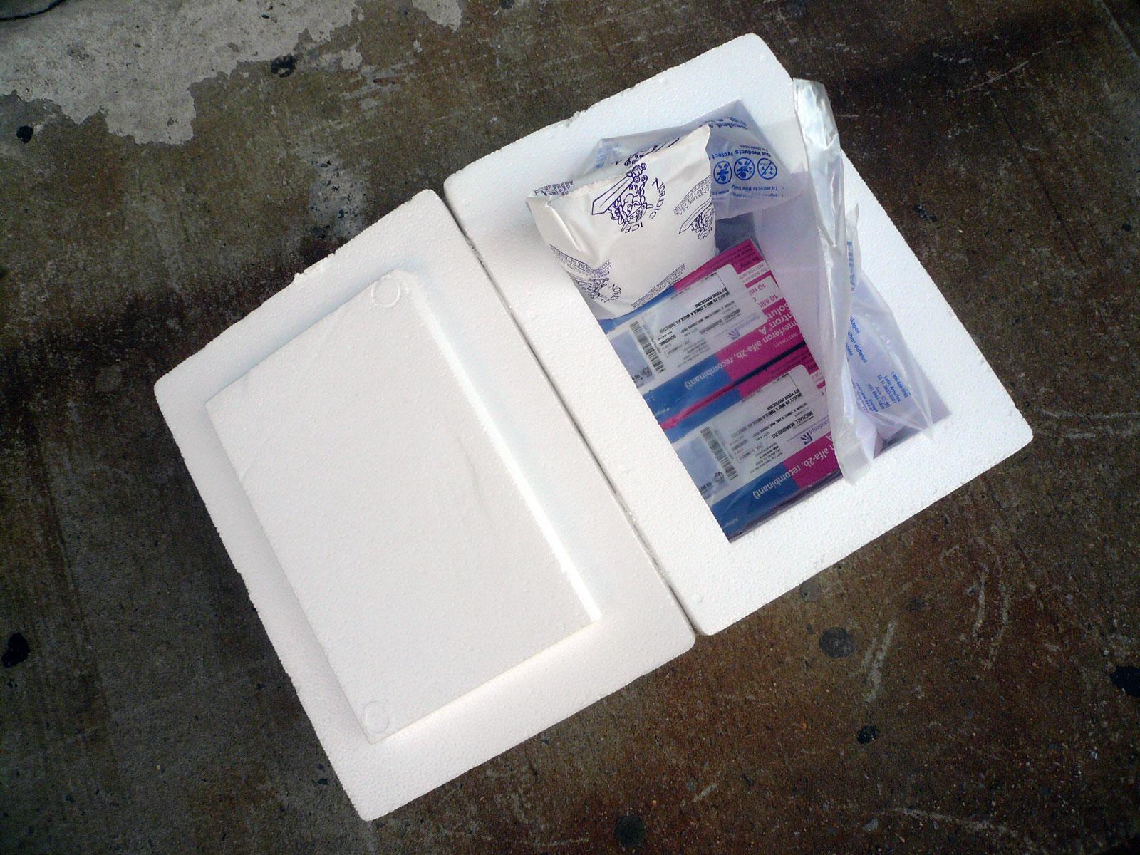 interferon shipping box